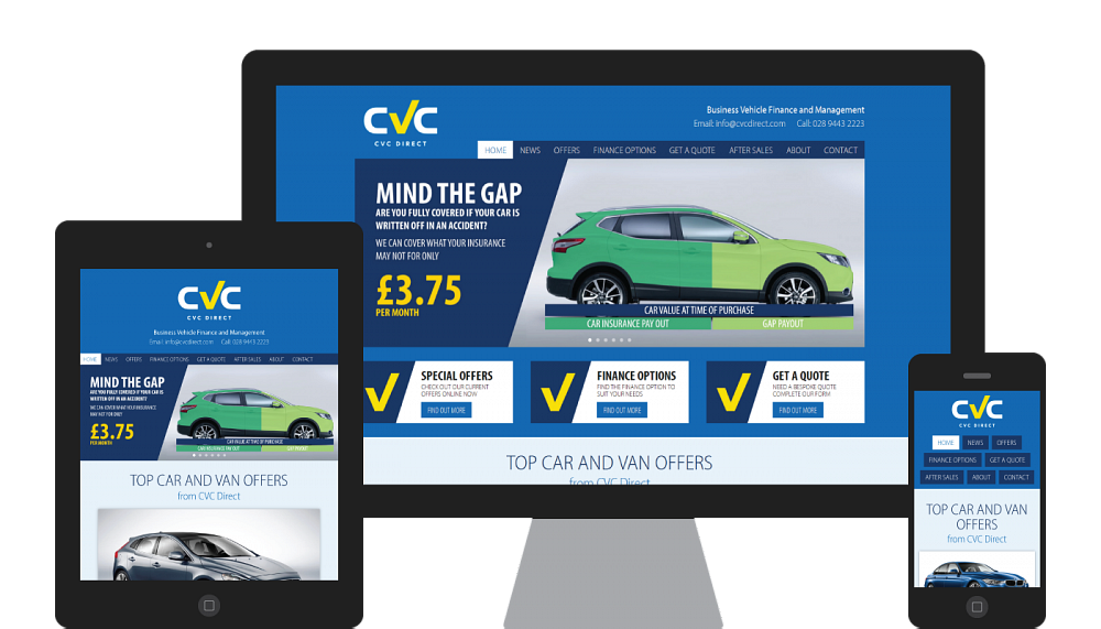 Design and development of a responsive website for CVC Direct