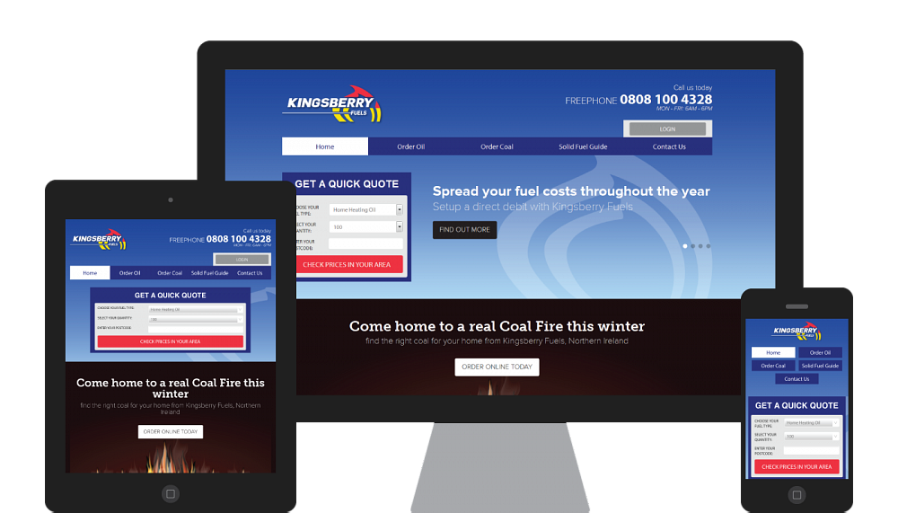 Design and development of a responsive website fro Kingsberry Fuels