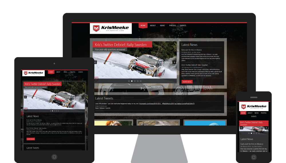 Design and development of a responsive website for WRC driver Kris Meeke